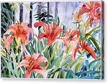 My Summer Day Liliies Canvas Print