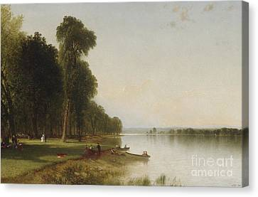 Summer Day On Conesus Lake, 1870 Canvas Print by John Frederick Kensett