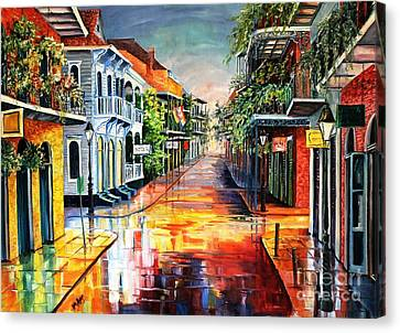 Street Lights Canvas Print - Summer Day On Royal Street by Diane Millsap