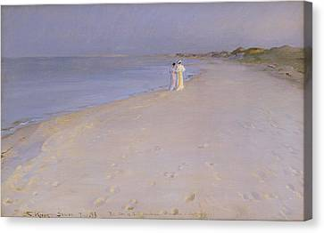Summer Evening At The South Beach Canvas Print