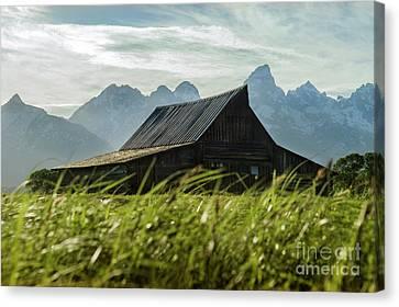 Summer Evening Barn Canvas Print