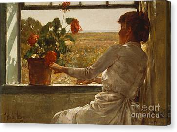 Summer Evening Canvas Print by Childe Hassam