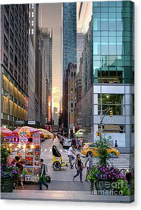 Summer Evening, New York City  -17705-17711 Canvas Print by John Bald