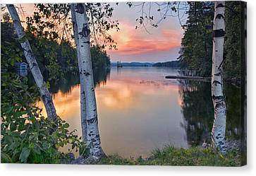 Summer Evening On Highland Lake Canvas Print by Darylann Leonard Photography