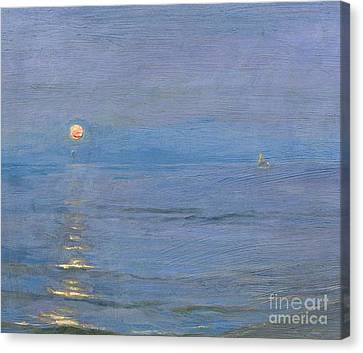 Summer Evening Canvas Print by PS Kroyer
