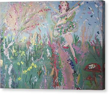 Summer Fairy Canvas Print by Judith Desrosiers