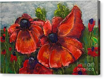 Summer Field Of Poppies Canvas Print