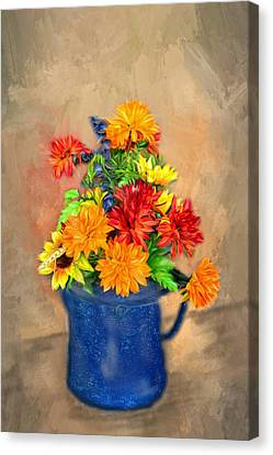 Summer Flowers Canvas Print by Mary Timman