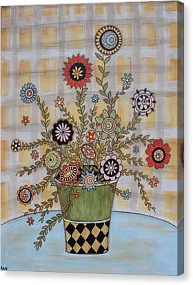 Summer Flowers Canvas Print by Rain Ririn