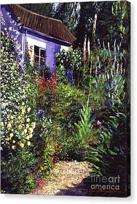 Summer Garden Canvas Print by David Lloyd Glover