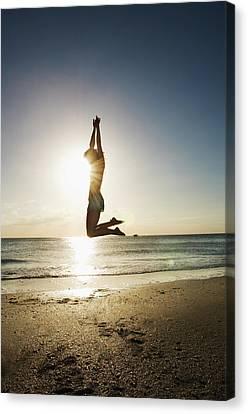 Summer Girl Summer Jump  Canvas Print by Amyn Nasser
