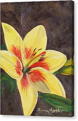 Canvas Print featuring the painting Summer Glow by Bonnie Heather