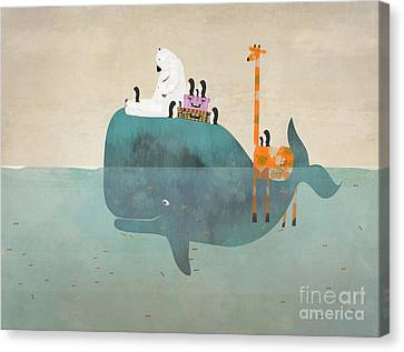 Whale Canvas Print - Summer Holiday by Bleu Bri