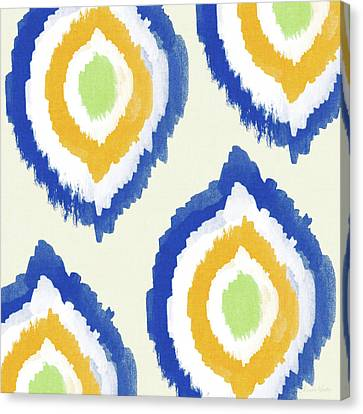 Summer Ikat- Art By Linda Woods Canvas Print by Linda Woods