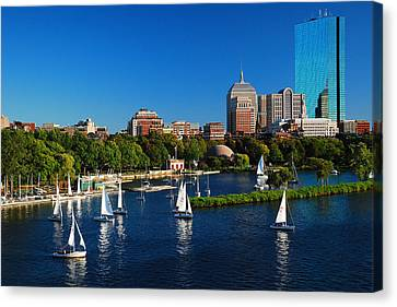 Summer In Boston Canvas Print by James Kirkikis