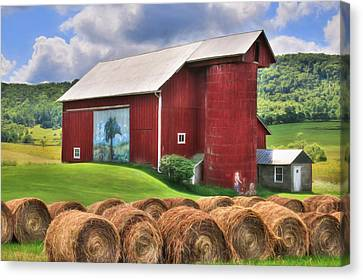Summer In Bradford County Canvas Print by Lori Deiter