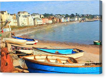 Summer In Dawlish Canvas Print by Chris Armytage