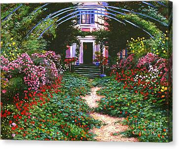 Historic House Canvas Print - Summer In Giverny by David Lloyd Glover