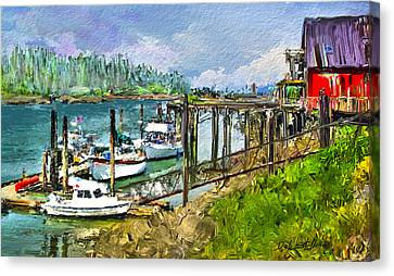 Canvas Print featuring the digital art Summer In La'conner by Dale Stillman
