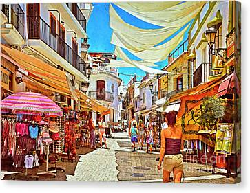 Summer In Malaga Canvas Print by Mary Machare