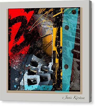 Summer In The City 2 Canvas Print by Janis Kirstein