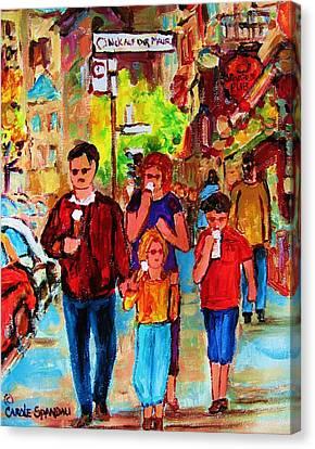 Summer In The City Canvas Print by Carole Spandau