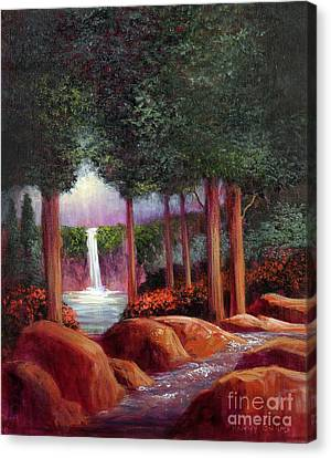 Canvas Print featuring the painting Summer In The Garden Of Eden by Randol Burns