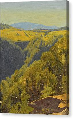 Summer In The Hills Canvas Print by Jervis McEntee