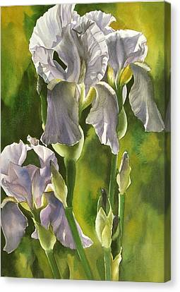 Canvas Print featuring the painting Summer Irises by Alfred Ng