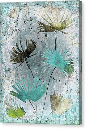 Textured Florals Canvas Print - Summer Joy  - 10 by Variance Collections