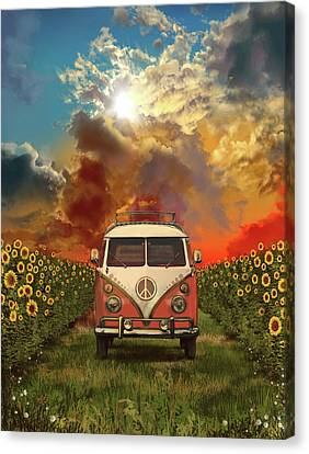 Rural Landscapes Canvas Print - Summer Landscape 3 by Bekim Art
