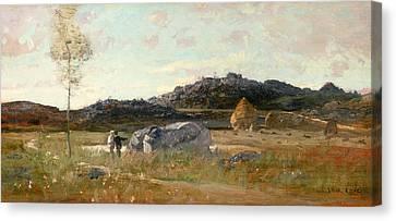 Summer Landscape Canvas Print by Luigi Loir