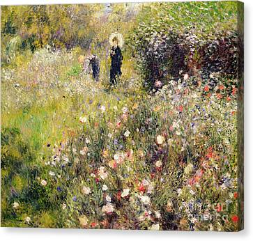 Picking Canvas Print - Summer Landscape by Pierre Auguste Renoir