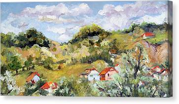 Summer Landscape Canvas Print by Vali Irina Ciobanu