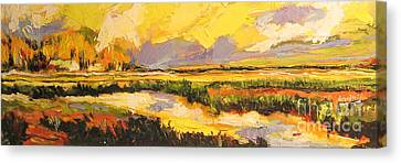 Canvas Print featuring the painting Summer Light by Debora Cardaci