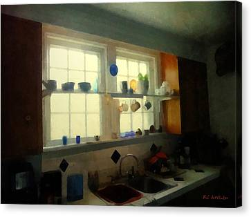Summer Light In The Kitchen Canvas Print by RC deWinter