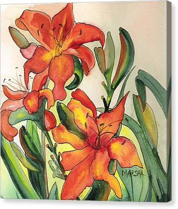 Summer Lilies Canvas Print