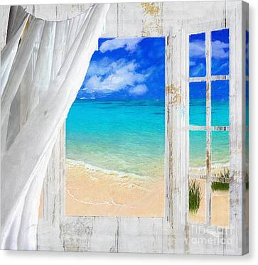 Azure Canvas Print - Summer Me Iv by Mindy Sommers
