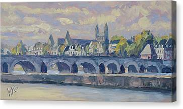 Canvas Print - Summer Meuse Bridge, Maastricht by Nop Briex