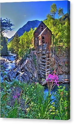 Crystal Mill Canvas Print - Summer Mill by Scott Mahon