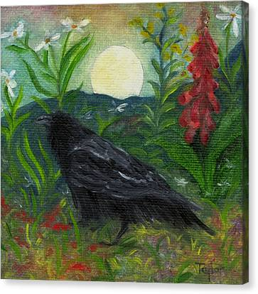 Summer Moon Raven Canvas Print