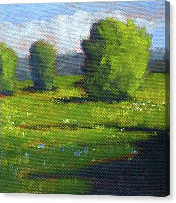 Canvas Print featuring the painting Summer by Nancy Merkle