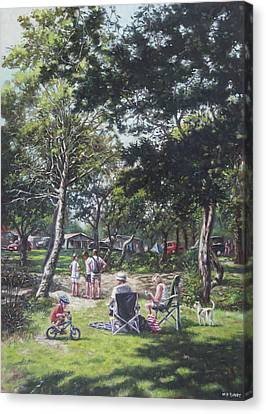 Dappled Light Canvas Print - Summer New Forest Picnic by Martin Davey