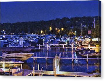 Summer Night - Lake Geneva Wisconsin Canvas Print by Ben Thompson
