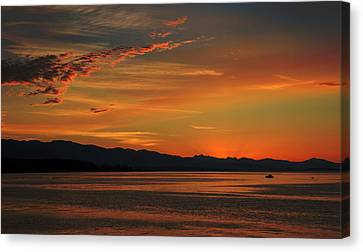 Summer Night Canvas Print by Randy Hall