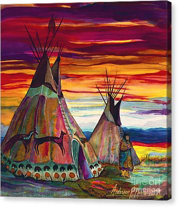 Summer On The Plains Canvas Print by Anderson R Moore