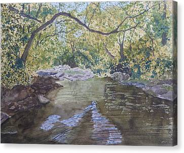 Canvas Print featuring the painting Summer On The South Tow River by Joel Deutsch