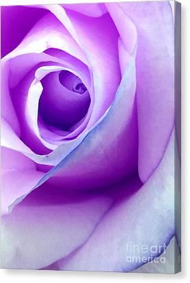 Digital Paint Flower Canvas Print - Summer Passion by Krissy Katsimbras