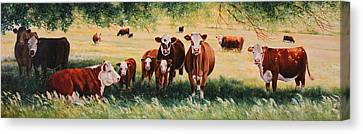 Cow Canvas Print - Summer Pastures by Toni Grote