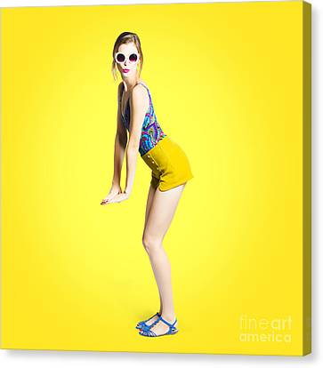 Summer Pin-up Woman Canvas Print by Jorgo Photography - Wall Art Gallery